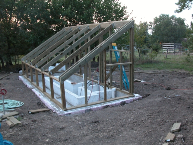 this summers project an earth sheltered greenhouse - Earth Sheltered Greenhouse Plans